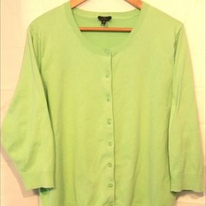 Talbots women's Green Cardigan Sweater size: 3X